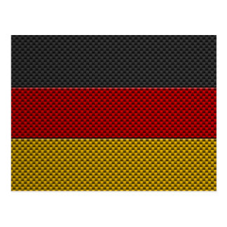 Flag of Germany with Carbon Fiber Effect Postcard