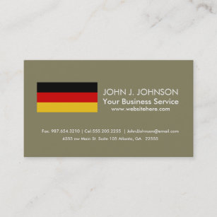 Germany business cards zazzle au flag of germany business card reheart Images