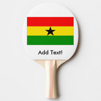 Flag of Ghana Ping Pong Paddle