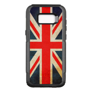 Flag of Great Britain in Grunge OtterBox Commuter Samsung Galaxy S8+ Case