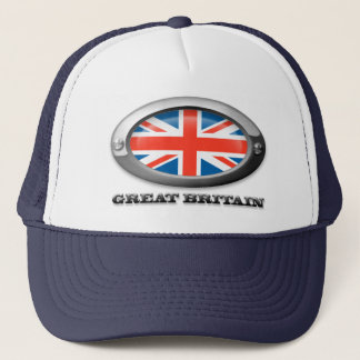 Flag of Great Britain in Steel Frame Trucker Hat