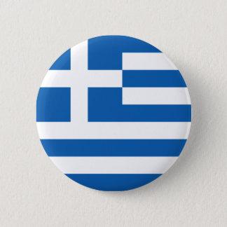 Flag of Greece 6 Cm Round Badge