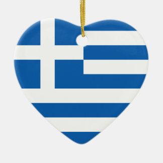 Flag of Greece Ceramic Ornament