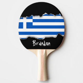 Flag of Greece Ping Pong Paddle