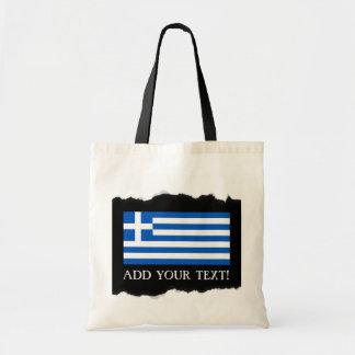 Flag of Greece Tote Bag