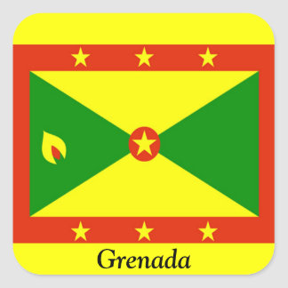 Flag of Grenada Square Sticker