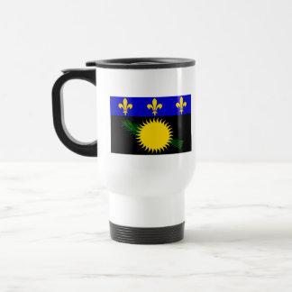 Flag of Guadeloupe 15 Oz Stainless Steel Travel Mug