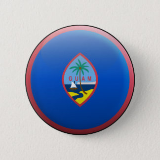 Flag of Guam 6 Cm Round Badge