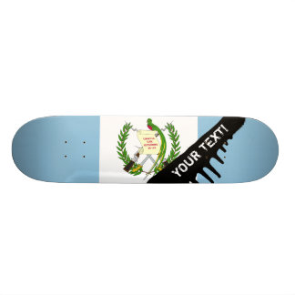 Flag of Guatamala 21.3 Cm Mini Skateboard Deck