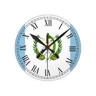 Flag of Guatamala Round Clock