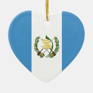 Flag of Guatemala - Central American Ceramic Heart Decoration