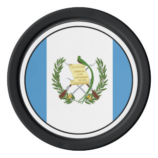 Flag of Guatemala - Central American Poker Chip Set