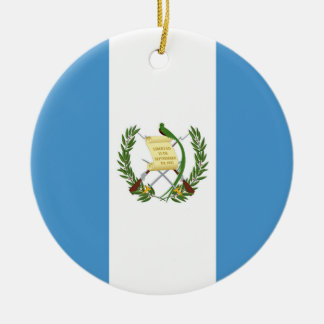Flag of Guatemala - Central American Round Ceramic Decoration