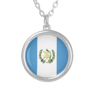 Flag of Guatemala - Central American Silver Plated Necklace