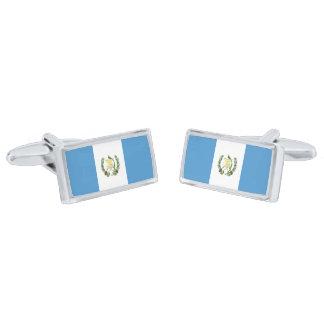 Flag of Guatemala Cufflinks Silver Finish Cuff Links