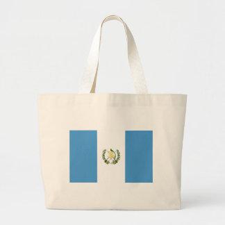 Flag_of_Guatemala Large Tote Bag