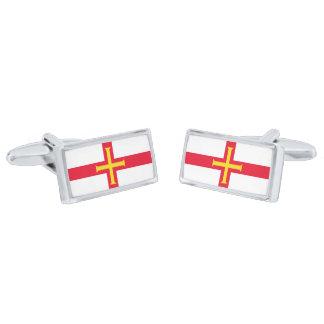 Flag of Guernsey Cufflinks Silver Finish Cufflinks
