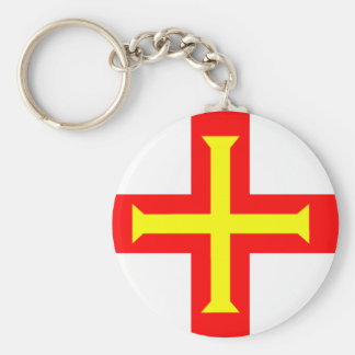 Flag of Guernsey Key Ring