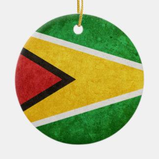 Flag of Guyana Ceramic Ornament