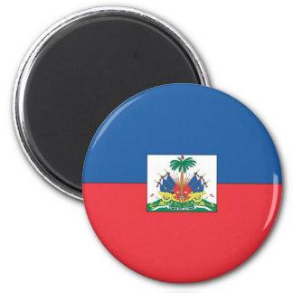 Flag of Haiti 6 Cm Round Magnet