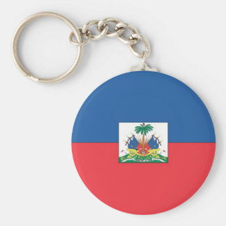 Flag of Haiti Basic Round Button Key Ring