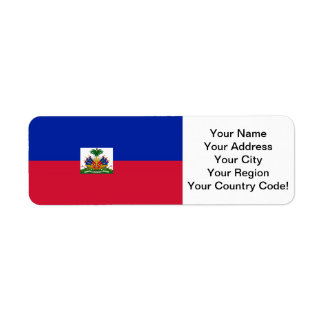 Flag of Haiti Return Address Label