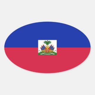 Flag of Haiti Oval Sticker
