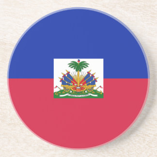 Flag_of_Haiti Sandstone Coaster