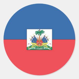 Flag of Haiti Round Stickers