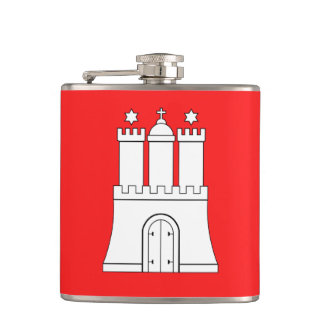 Flag of Hamburg Hip Flask