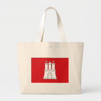 Flag_of_Hamburg Large Tote Bag