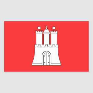 Flag of Hamburg Rectangular Sticker