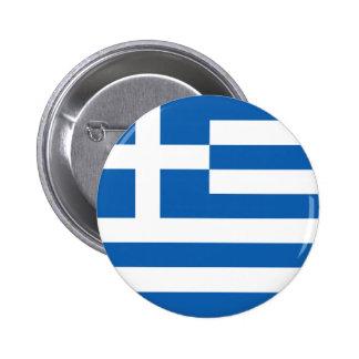 Flag of Hellenic Republic (Greece) 6 Cm Round Badge