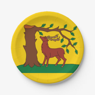 Flag of historic county of Berkshire Paper Plate