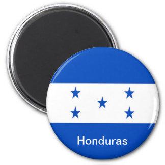 Flag of Honduras 6 Cm Round Magnet