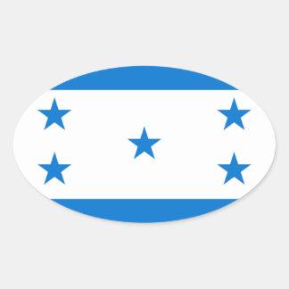 Flag of Honduras - Bandera Hondureña de Honduras Oval Sticker