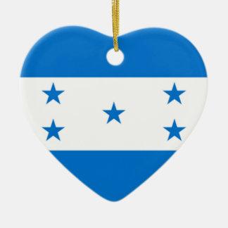 Flag of Honduras Ceramic Heart Decoration