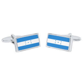 Flag of Honduras Cufflinks Silver Finish Cuff Links