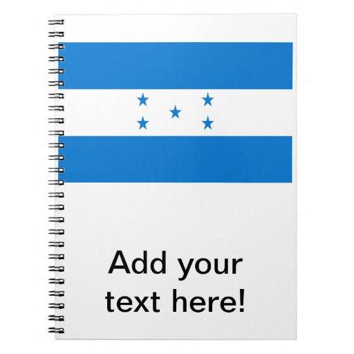 Flag of Honduras Spiral Notebooks