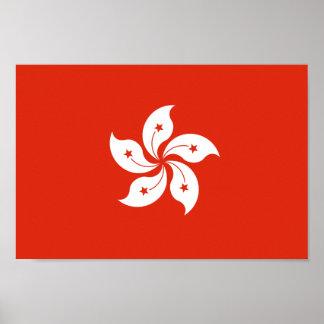 Flag of Hong Kong Bauhinia Blakeana HK Flag Poster
