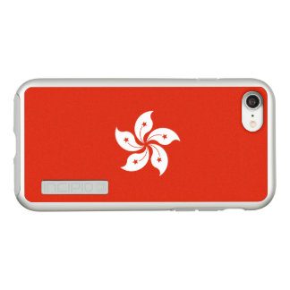 Flag of Hong Kong Silver iPhone Case