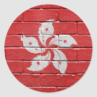 Flag of Hongkong Classic Round Sticker
