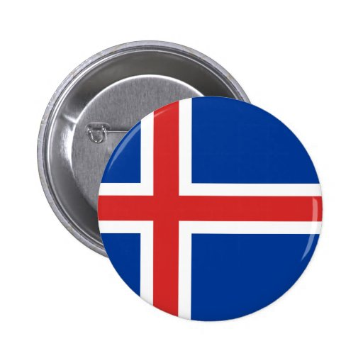 Flag of Iceland Pinback Button