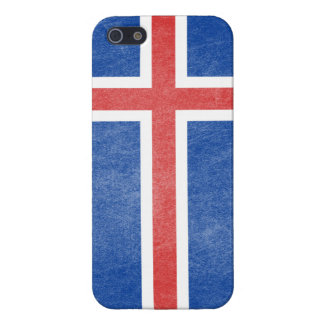 Flag of Iceland Grunge iPhone 5/5S Cover