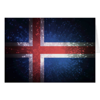 Flag of Iceland Note Card