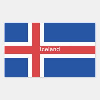 Flag of Iceland Rectangular Sticker