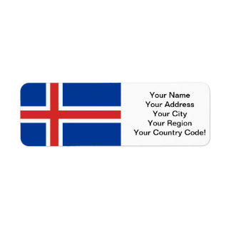Flag of Iceland Return Address Label