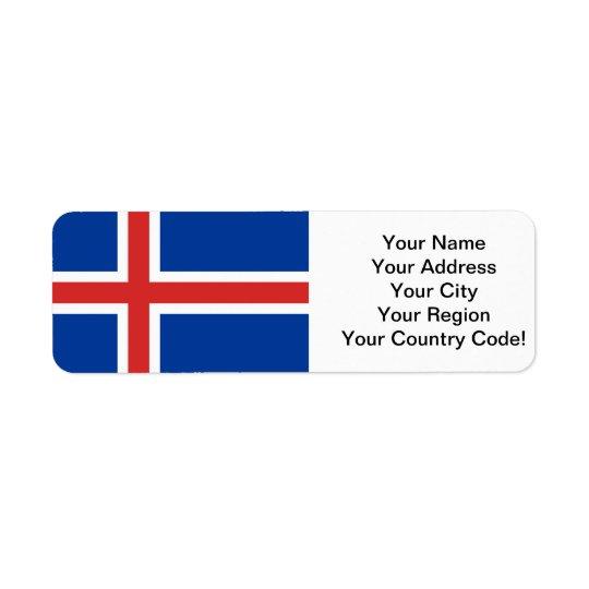 Flag of Iceland Return Address Label