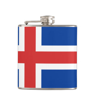 Flag of Iceland Vinyl Wrapped Flask