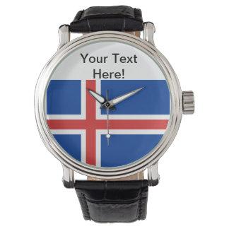 Flag of Iceland Wrist Watch